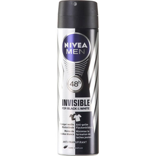 Nivea Invisible Black & White For Men Deo Spray 150 ml